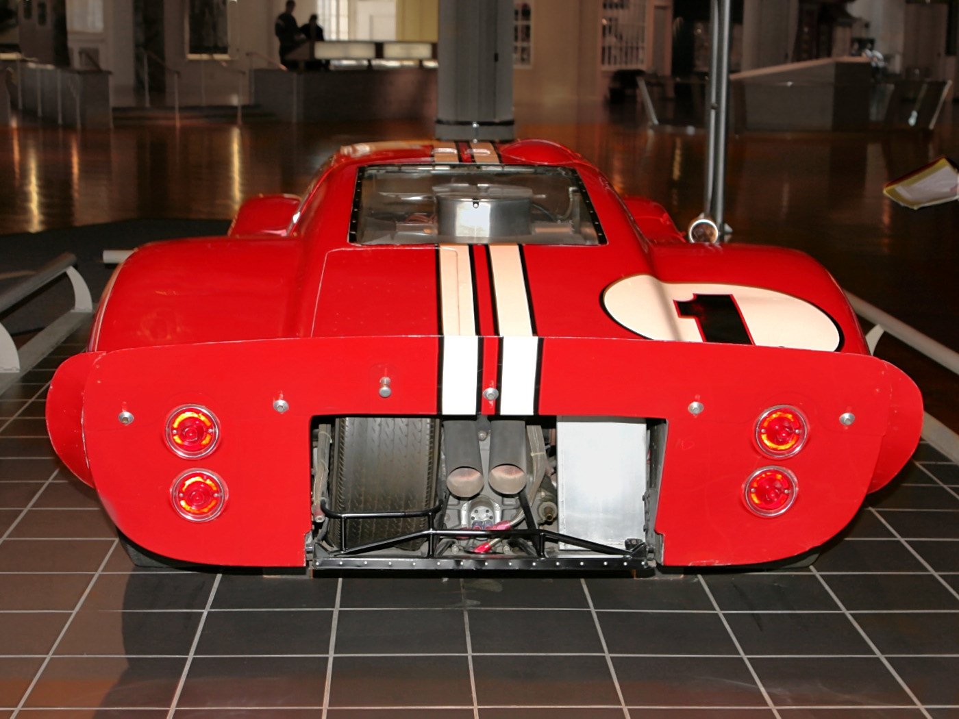 1967 Ford GT-40 Mark IV Hood Red with White Stripe rv (H Ford Museum) CL.jpg