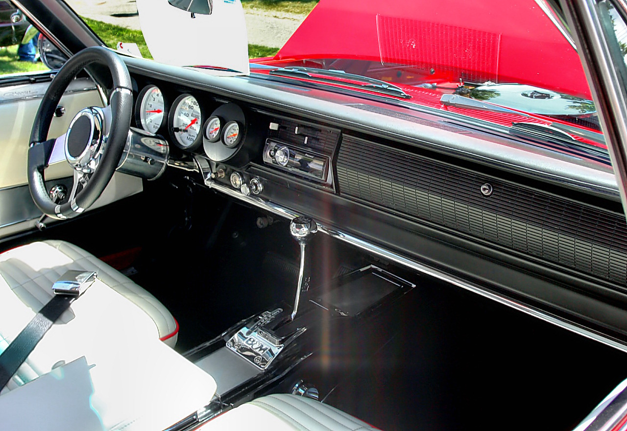 1966 Dodge Charger Mild Custom Modified 383 Engine Instrument Cluster, Steering Wheel, Shifter Brigh