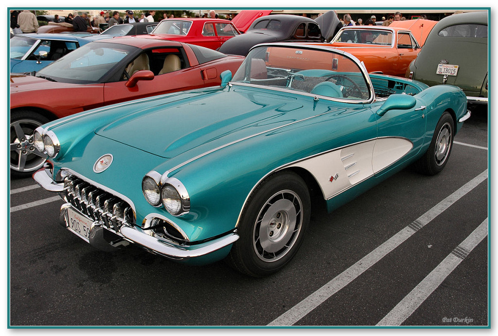 1959 Corvette Roadster - no top - turquoise with white scallop - fvl =Pat D.jpg